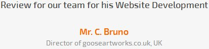 Mr. C. Bruno review